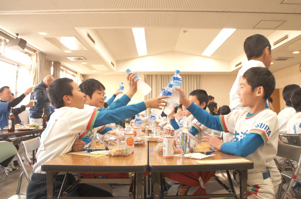 古江台少年野球部 卒部式より。