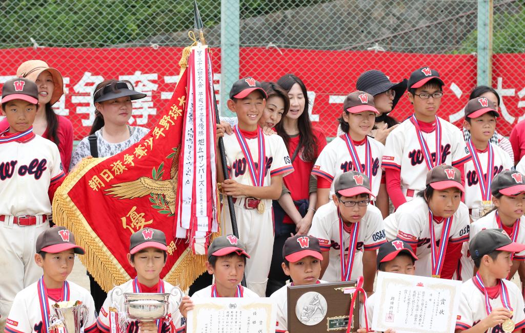 2015年度春の朝日旗を優勝した山田西リトルウルフ