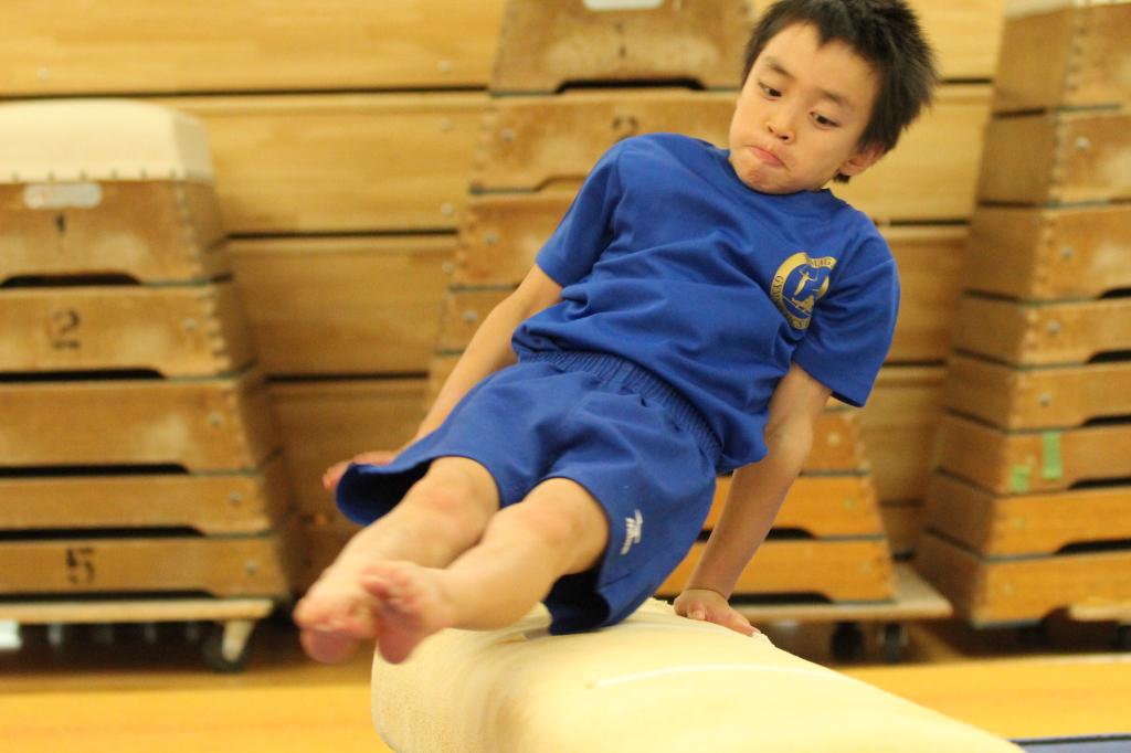 玉川学園幼稚園 玉川体操クラブ競技クラスの練習風景
