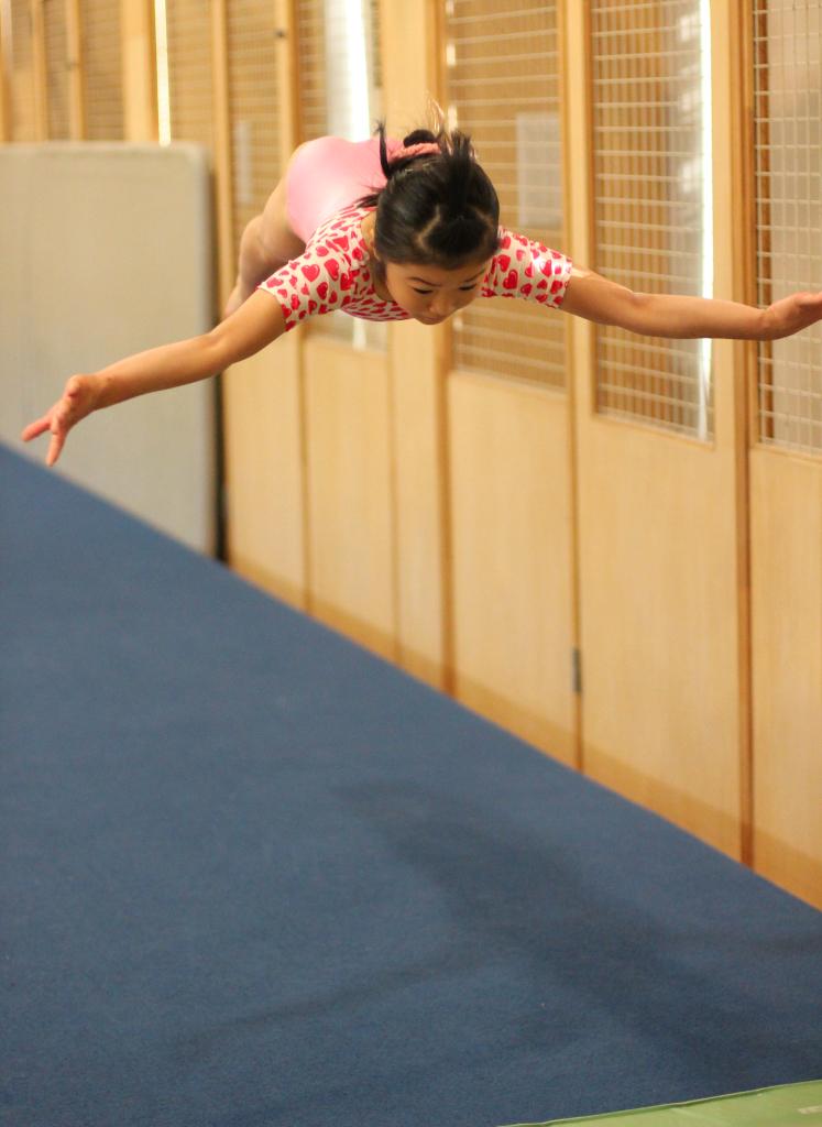 玉川体操クラブ 競技クラスの練習風景