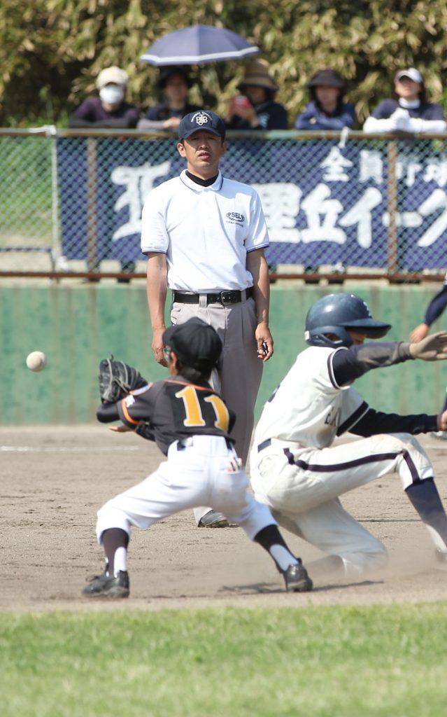 審判部の片桐さん(津雲台少年野球部)