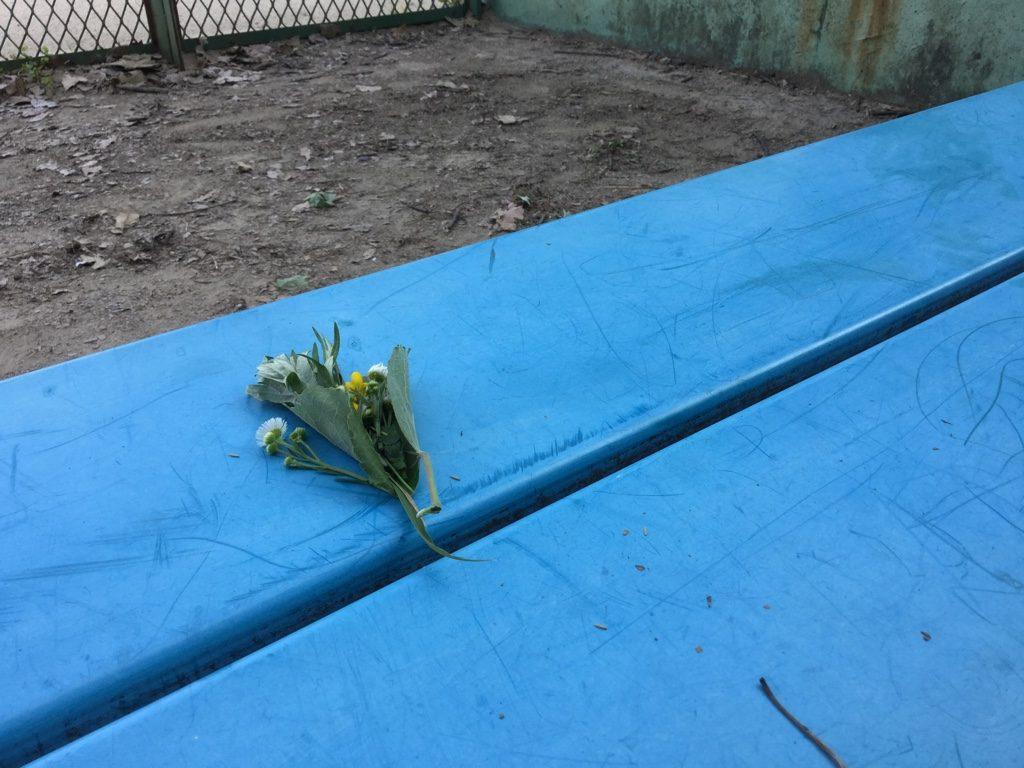 桜井谷スタンドのベンチ